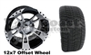 12x7 RHOX RX210 Wheel with Low Profile Golf Cart Tire