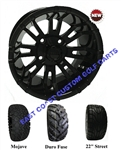 12x7 RHOX RX271 Black Wheel with Your Choice of Lifted Tire