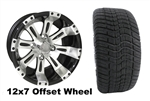 12x7 RHOX Vegas Wheel with Low Profile Golf Cart Tire