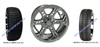 14x7 RX264 Chrome Wheel and Low Profile Tire