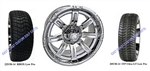14x6 Centered Chrome Vegas Wheel and Low Profile Tire