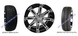 14x6 Centered Vegas Wheel and Low Profile Tire
