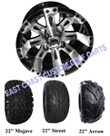 10x7 Vegas Golf Cart Wheel with Your Choice of Tire