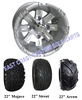 10x7 Silver Vegas Golf Cart Wheel with Your Choice of Tire