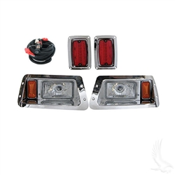 Yamaha G14-22 Chrome Finish Adjustable Head & LED Tail Light Kit