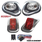 Yamaha Drive Mirror Finish Head & LED Tail Light Kit #YDR-5-04KMFLED