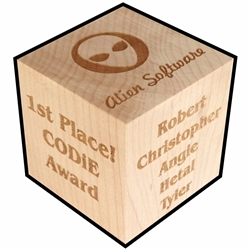 Employee Achievement Gift Personalized Block