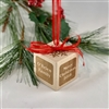 Christmas Ornament Personalized - Family Block