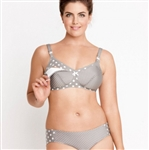 Polka Dot Padded Wireless Nursing Bra