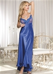 Charmeuse and Net Long Gown