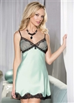 Charmeuse and Net Overlay Chemise