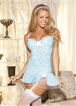 Adorable Animal Knit Gartered Chemise