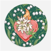 Chaste Heart of St. Joseph Vinyl Sticker