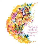 New Life Butterflies Note Cards