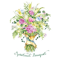Roses and Rosary Spiritual Bouquet