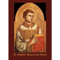 St. Stephen, Deacon and Martyr Greeting Card