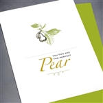 "Anniversary  "" Perfect Pear ""  AN06 Greeting Card"