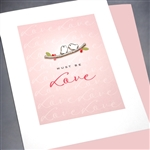 "Anniversary  "" Love Birds ""  AN16 Greeting Card"
