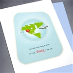 "Anniversary  "" Airplane ""  AN26 Greeting Card"
