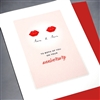 "Anniversary / Equality  "" Red Lips ""  ANEQ02 Greeting Card"