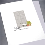 "Any Occasion  "" Shut The Front Door ""  ANY01 Greeting Card"