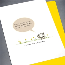 "Any Occasion  "" Blah! Blah! Blah! ""  ANY12 Greeting Card"