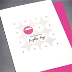 "Any Occasion "" Brighter Days ""  ANY40 Greeting Card"