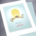 "Birthday "" Day To Celebrate ""  BD113 Greeting Card"