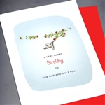 "Birthday  "" One And Only You ""  BD122 Greeting Card"