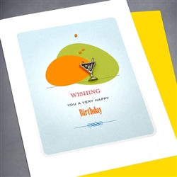 "Birthday  "" Martini Glass ""  BD126 Greeting Card"