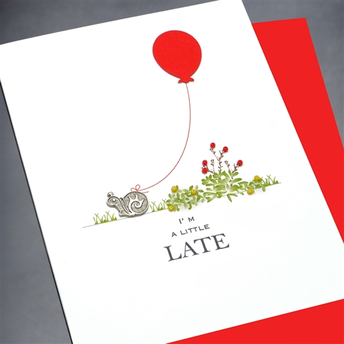 Birthday Little Late BD13 Greeting Card