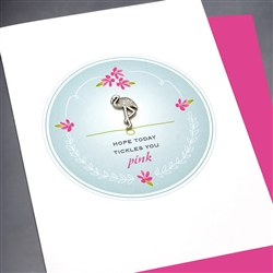 "Birthday "" Flamingo ""  BD138 Greeting Card"