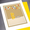 "Birthday  "" Race Car ""  BD15 Greeting Card"