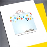 "Birthday "" Birthday Son ""  BD179 Greeting Card"