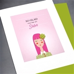 "Birthday  "" Sister ""  BD181 Greeting Card"