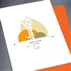 "Birthday  "" Clever Fox ""  BD189 Greeting Card"