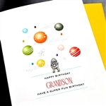 "Birthday "" Grandson ""  BD230 Greeting Card"