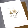 "Birthday "" Cake & Coffee ""  BD255 Greeting Card"