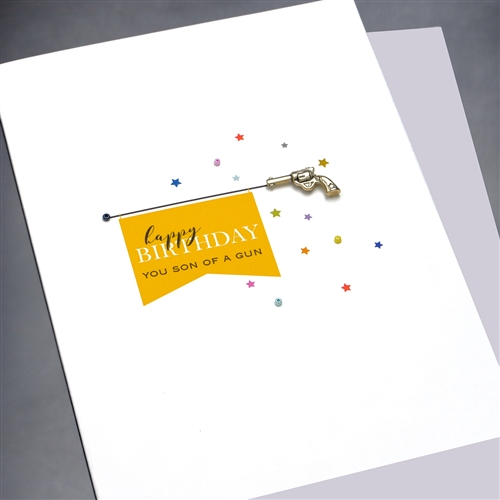 Birthday Son Of A Gun BD258 Greeting Card