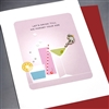 "Birthday "" Let's Drink ""  BD277 Greeting Card"