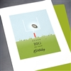 "Birthday  "" Football ""  BD296 Greeting Card"