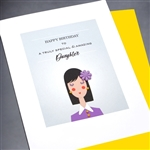 "Birthday  "" Daughter ""  BD319 Greeting Card"