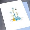 "Birthday  "" Blue Vase ""  BD321 Greeting Card"