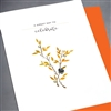 "Birthday  "" Orange Leaves & Flower ""  BD322 Greeting Card"