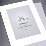 "Birthday  "" Brother ""  BD330 Greeting Card"