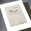 "Birthday  "" Your Dreams ""  BD341 Greeting Card"