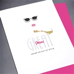 "Birthday  "" style ""  BD403 Greeting Card"