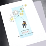"Birthday  "" Cosmic Birthday Wishes ""  BD428 Greeting Card"
