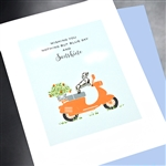 "Birthday  "" Blue Sky Birthday ""  BD433 Greeting Card"