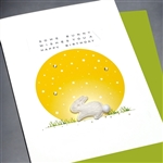 "Birthday  "" Bunny Wishes ""  BD435 Greeting Card"